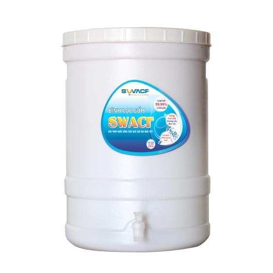 Bình lọc gốm, SWACF 20L CWFLT -Công nghệ Unicef