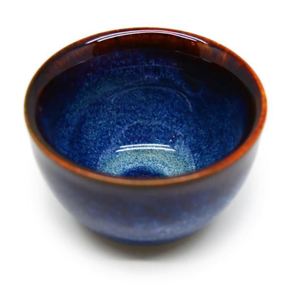 06 Cốc  trà không chân  Đông Gia - xanh sóng biển 8094