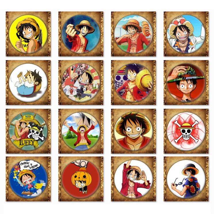 Huy hiệu Anime One Piece trang trí quần áo mũ balo