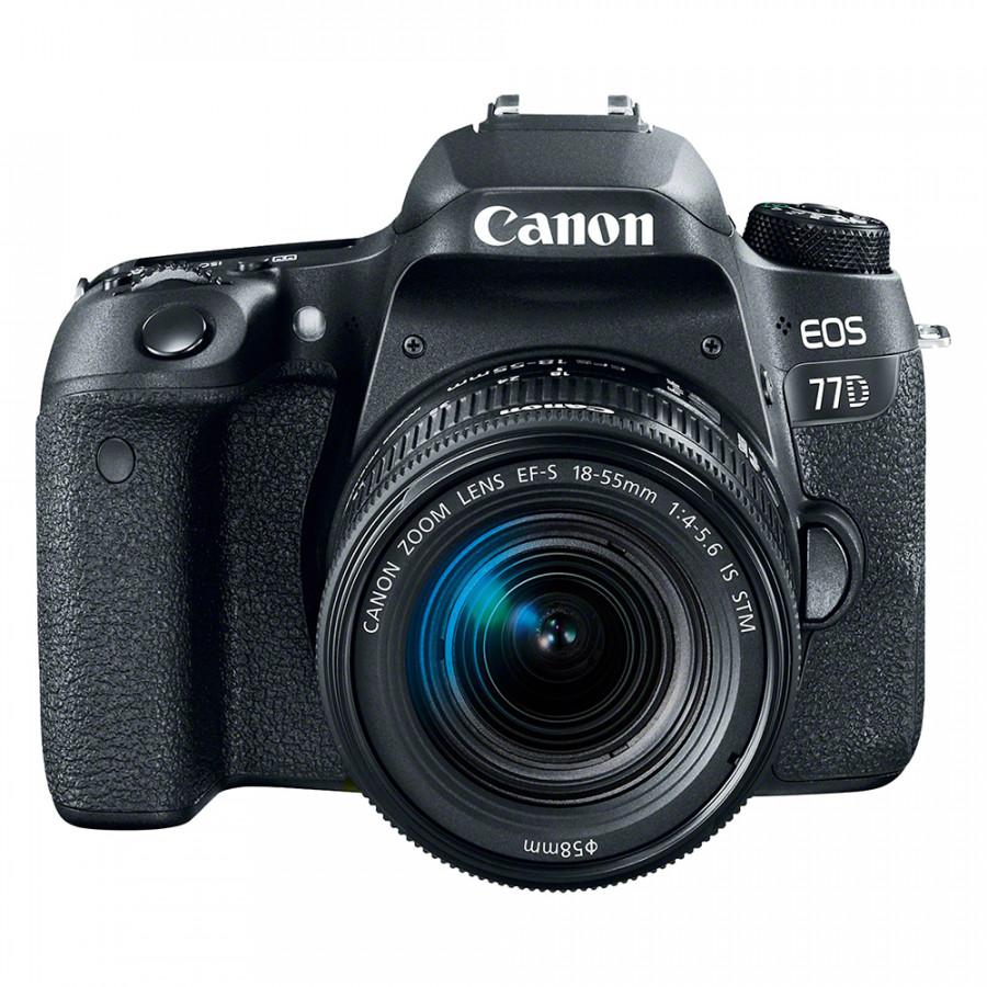 Máy Ảnh Canon 77D + Lens 18-55mm IS STM - Hàng Chính Hãng
