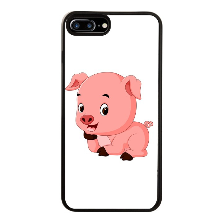 Ốp Lưng Kính Cường Lực Dành Cho Điện Thoại iPhone 7 Plus  8 Plus Pig Pig Mẫu 1
