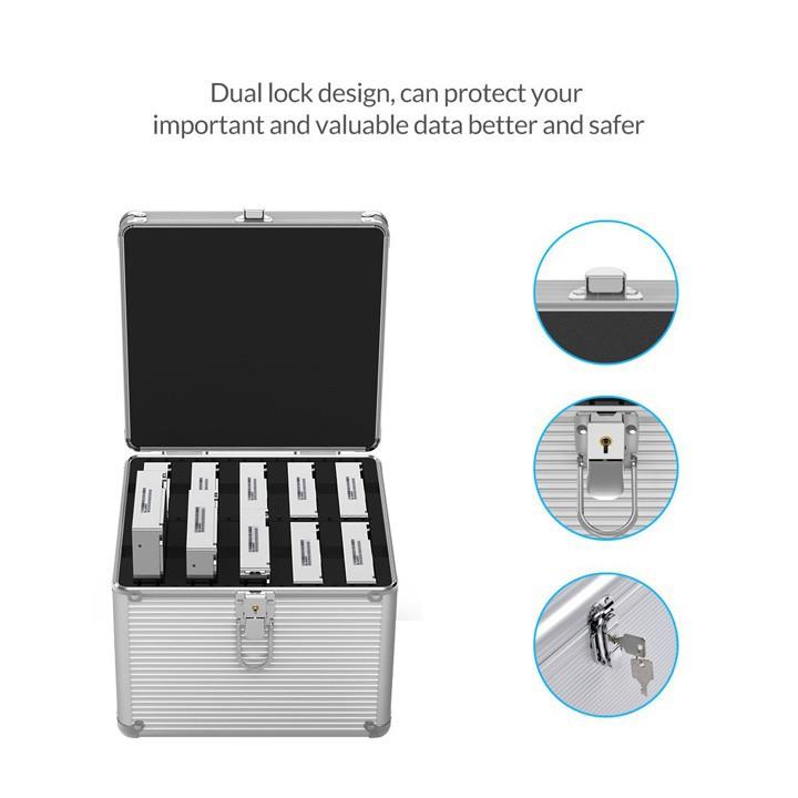 Hộp nhôm bảo vệ 10 ổ cứng BSC35-10
