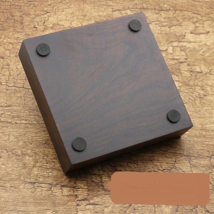 Gạt tàn hình NGƯ DÂN SƠN gỗ mun tự nhiên nguyên khối đục,chống cháy.