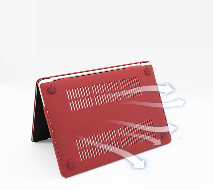 Combo ốp kèm phủ phím màu đỏ đô bảo vệ cho Macbook đủ dòng