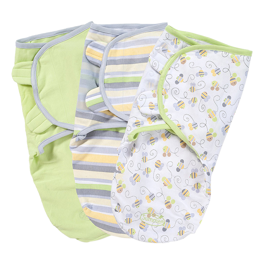 Set 3 Chăn Quấn Busy Bee Summer Infant SM54000 (Size S/M)