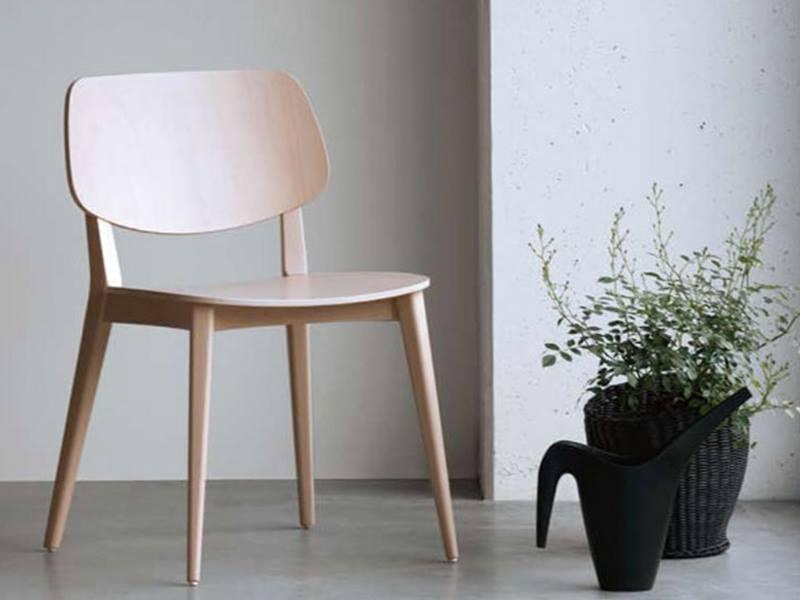 Ghế ăn gỗ Ghế gỗ nhà hàng cafe fastfood PLC -W không nệm dễ vệ sinh giá rẻ Nội thất CAPTA HCM