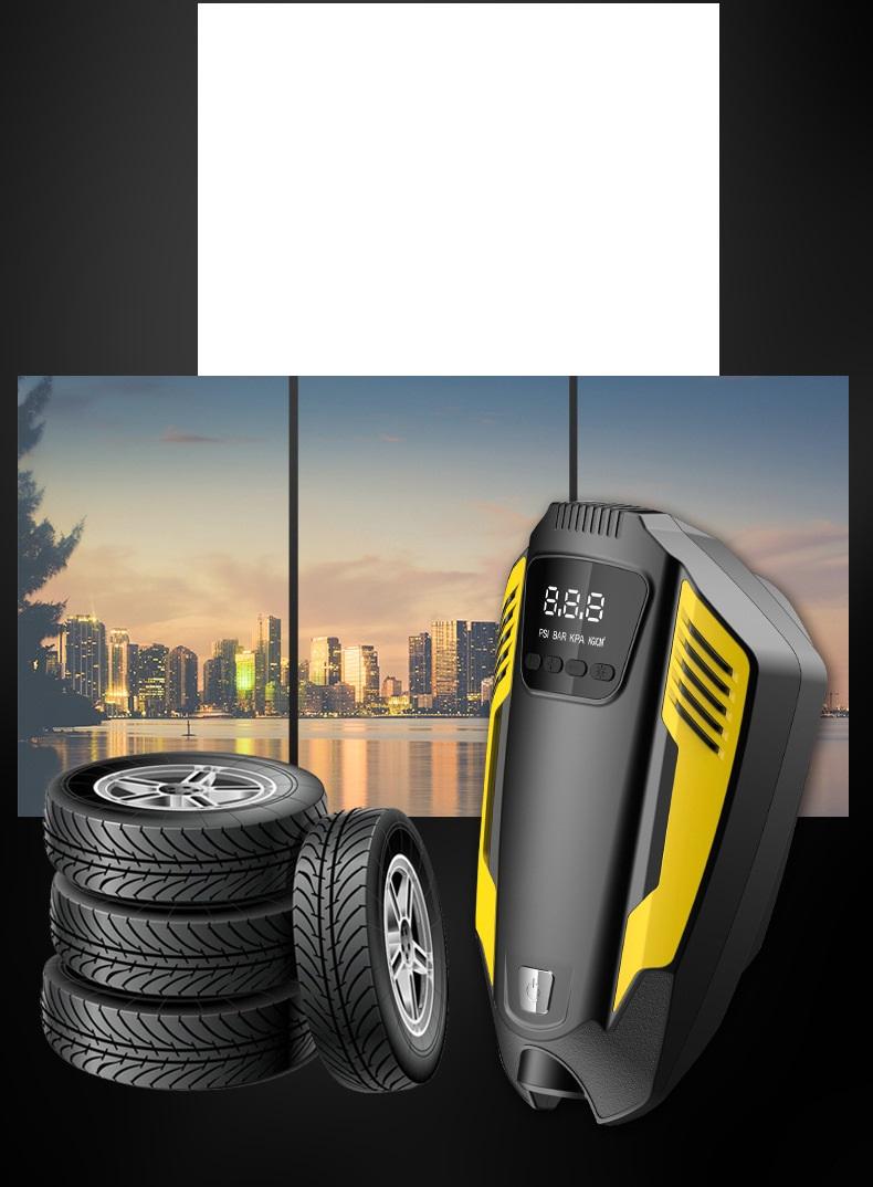 Bơm Lốp Ô Tô Air Pump Đa Năng Màn Hình Led Tích Hợp Đèn Chiếu Sáng