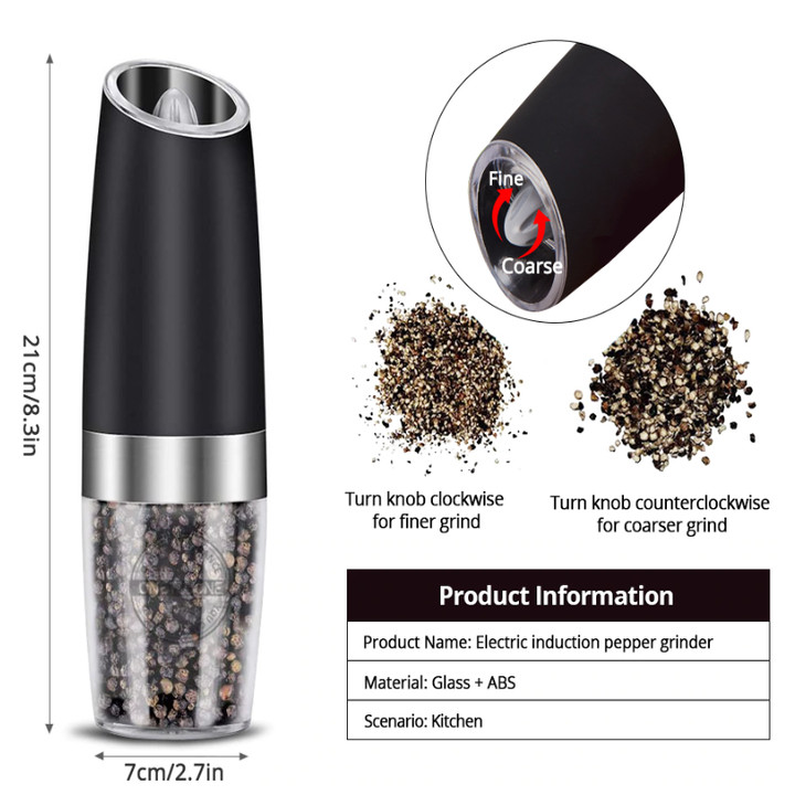 Dụng cụ xay hạt tiêu và gia vị cầm tay chạy pin, dung tích 140ml