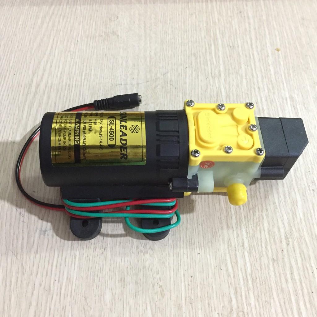 Máy Bơm Nước Mini 12V Tăng Áp Phun Sương, Rửa Xe, Hút Nước Bể Cá