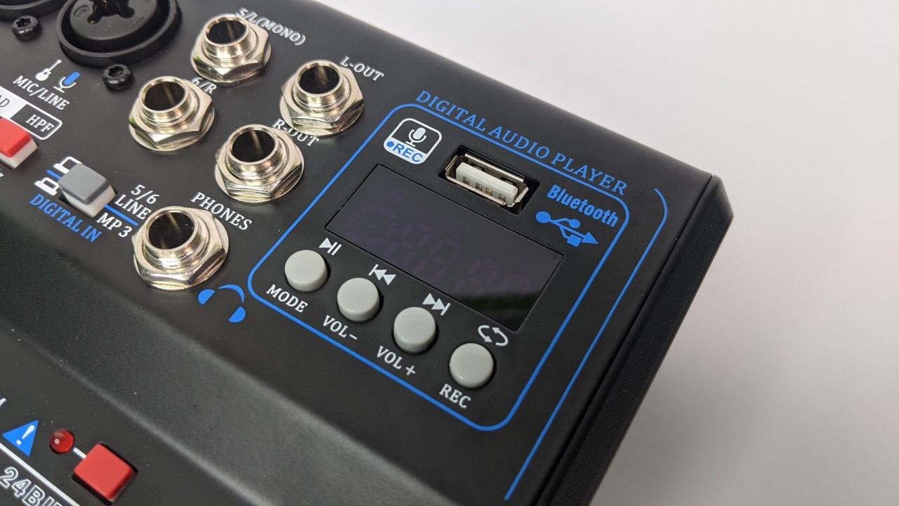 Bàn Mixer trộn tích hợp vang số MAX 99 USB - livestream, thu âm, karaoke chuyên nghiệp - 16 chế độ vang - Hàng chính hãng