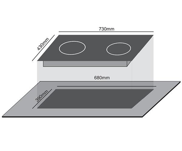 Bếp Điện 1 Từ 1 Hồng Ngoại Civin CV-690 Điều Khiển Nút Trượt,  8 Mức Công Suất Nấu - Hàng Chính Hãng