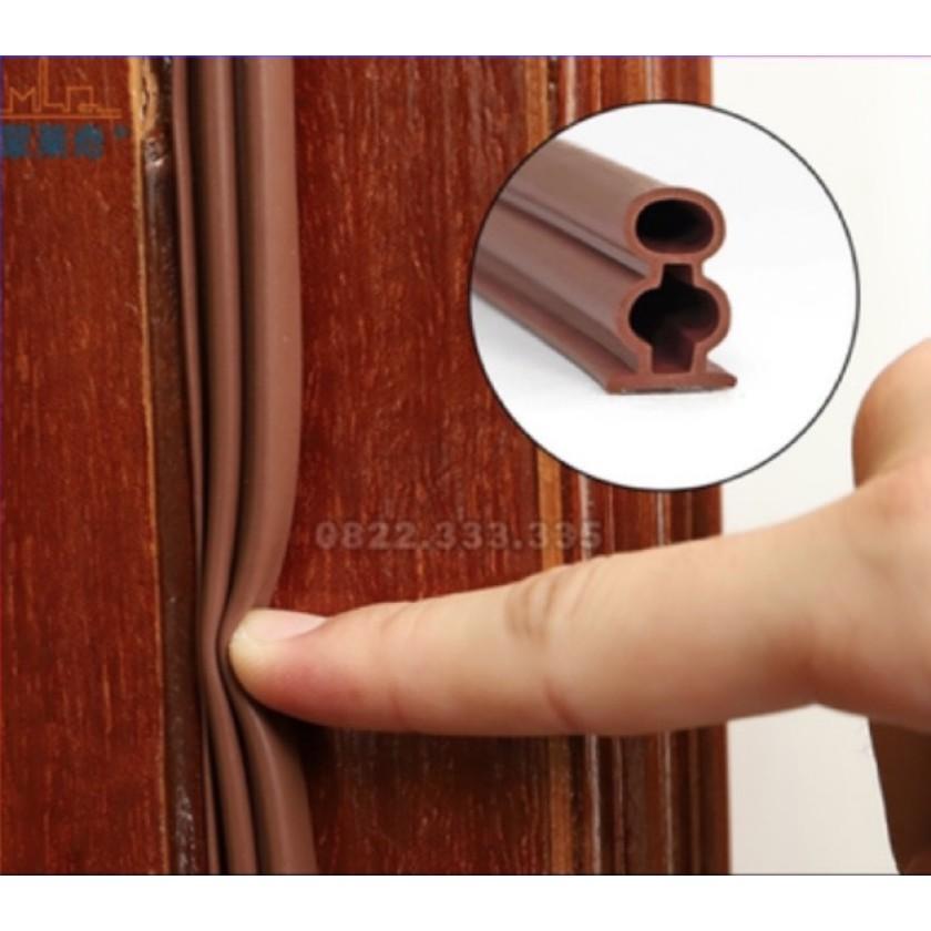 Combo 10m Ron cao su cách âm cửa gỗ, ron giảm chấn, gioăng cao su chữ D, cao su giảm trấn cách âm cửa nhựa cửa nhôm