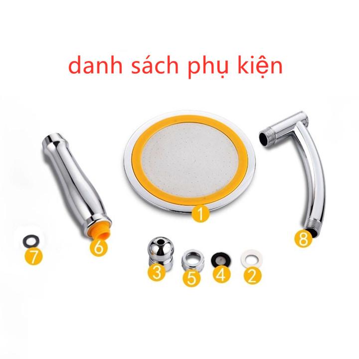 Bộ đầu vòi hoa sen tăng áp 6 inch ( gồm có vòi sen, giá đỡ vòi sen, dây sen cấp nước ) kèm quà tặng