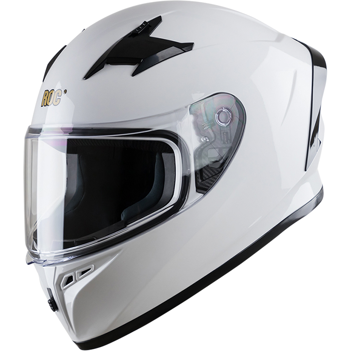 Nón bảo hiểm nguyên đầu (Fullface) ROC R01 TR-2B Trắng Bóng