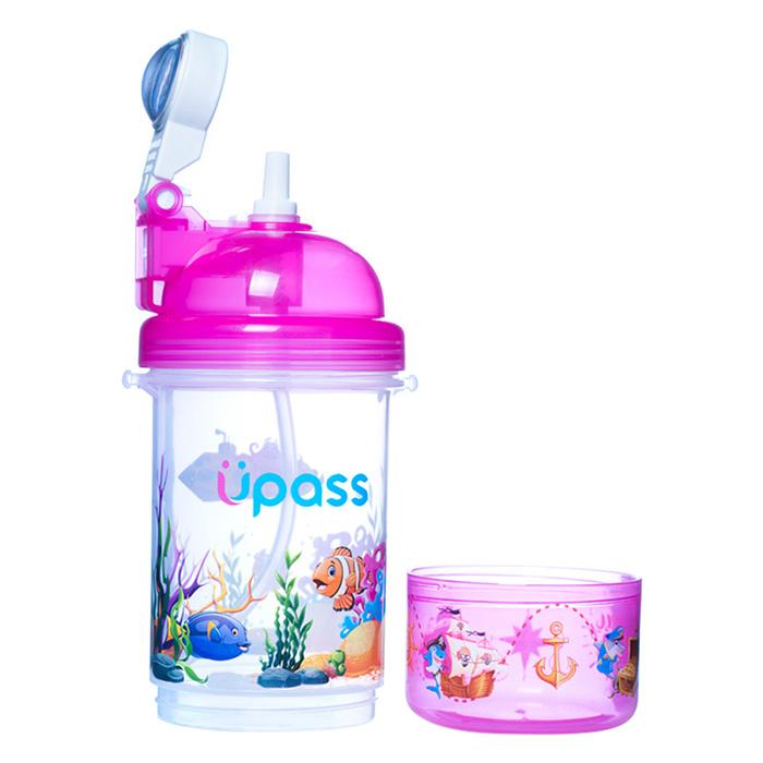 Bình nước cao cấp nắp bật có khay đựng kẹo Upass UP0826 (400ml)