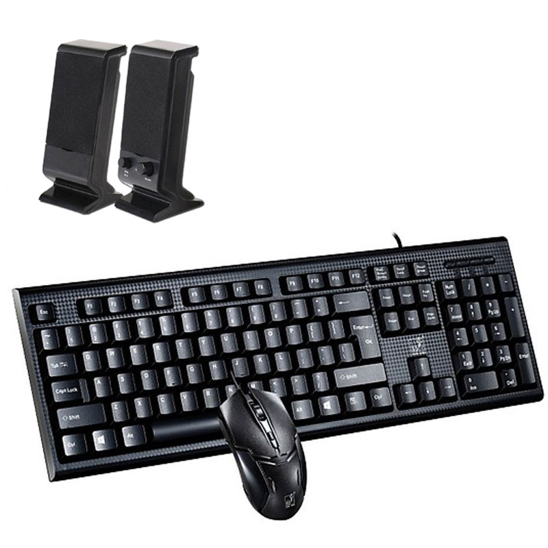 Combo Bộ Bàn Phím Và Chuột Gaming Q9U-U Độ Phân Giải 1800DPI, Hỗ Trợ Chống Thấm Nước + Tặng Bộ 2 Loa Máy Tính USB 2.0 V-112  (màu ngẫu nhiên)
