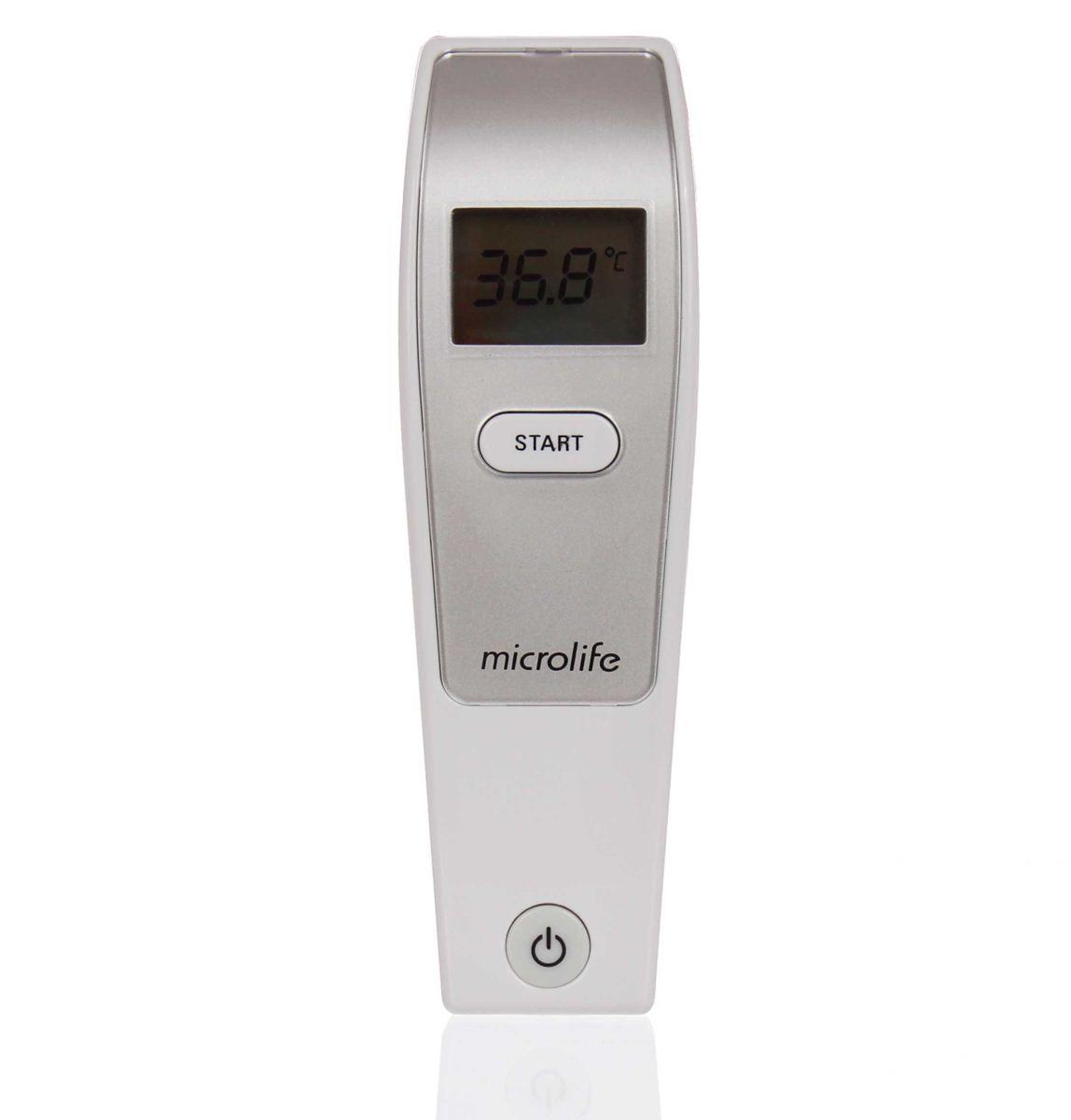 Nhiệt kế hồng ngoại đo trán Microlife Fr1mf1 - đo 1s - Tặng kèm 10 khẩu trang Lily cho bé
