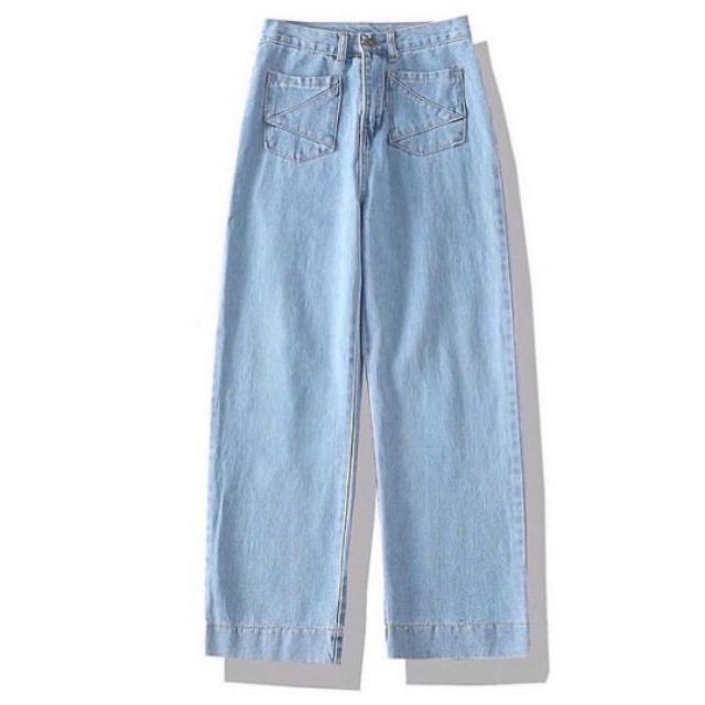 Quần Jeans Nữ Ống Rộng Phối Túi Thời Trang - 269