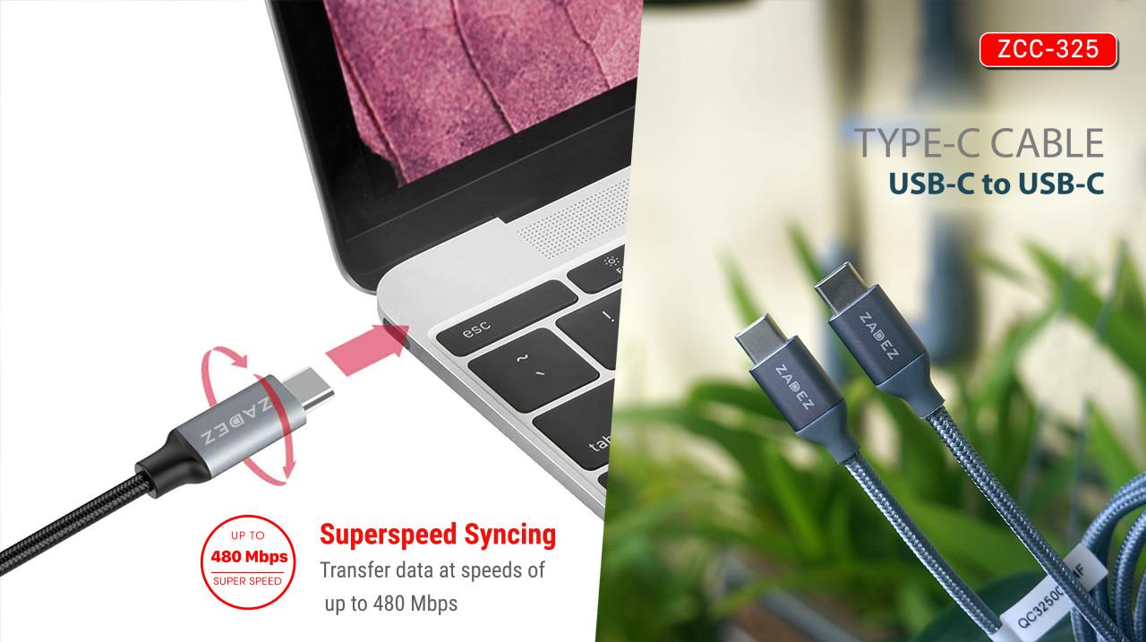 Cáp Dual USB-C Zadez ZCC-325 - Hàng Chính Hãng