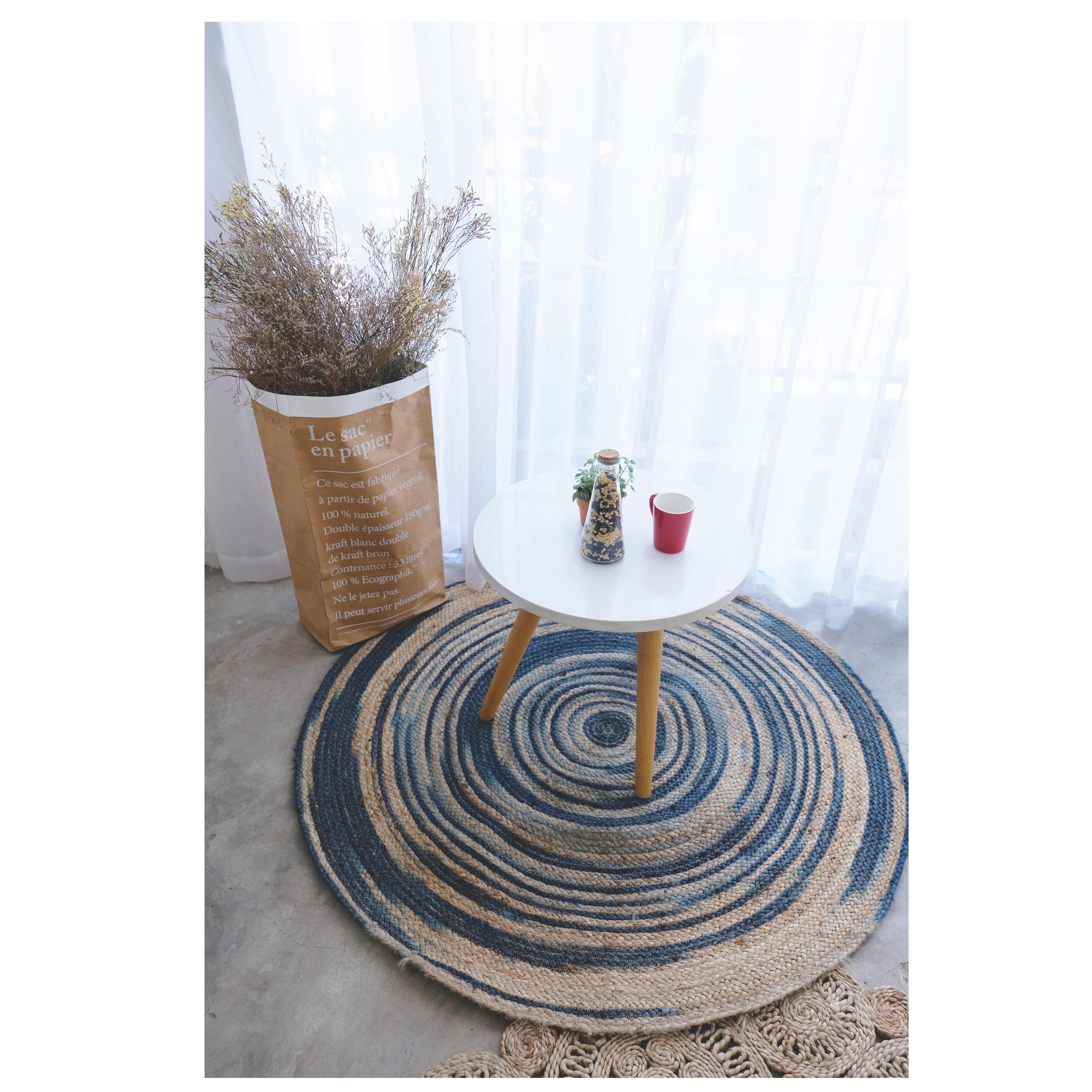 Thảm đay hình tròn Ấn Độ 120cm