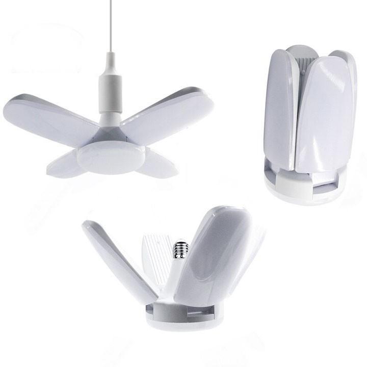 Bóng đèn 4 cánh hình quạt - Bóng đèn Led hình quạt ánh sáng trắng siêu sáng 60W - Hàng Chính Hãng