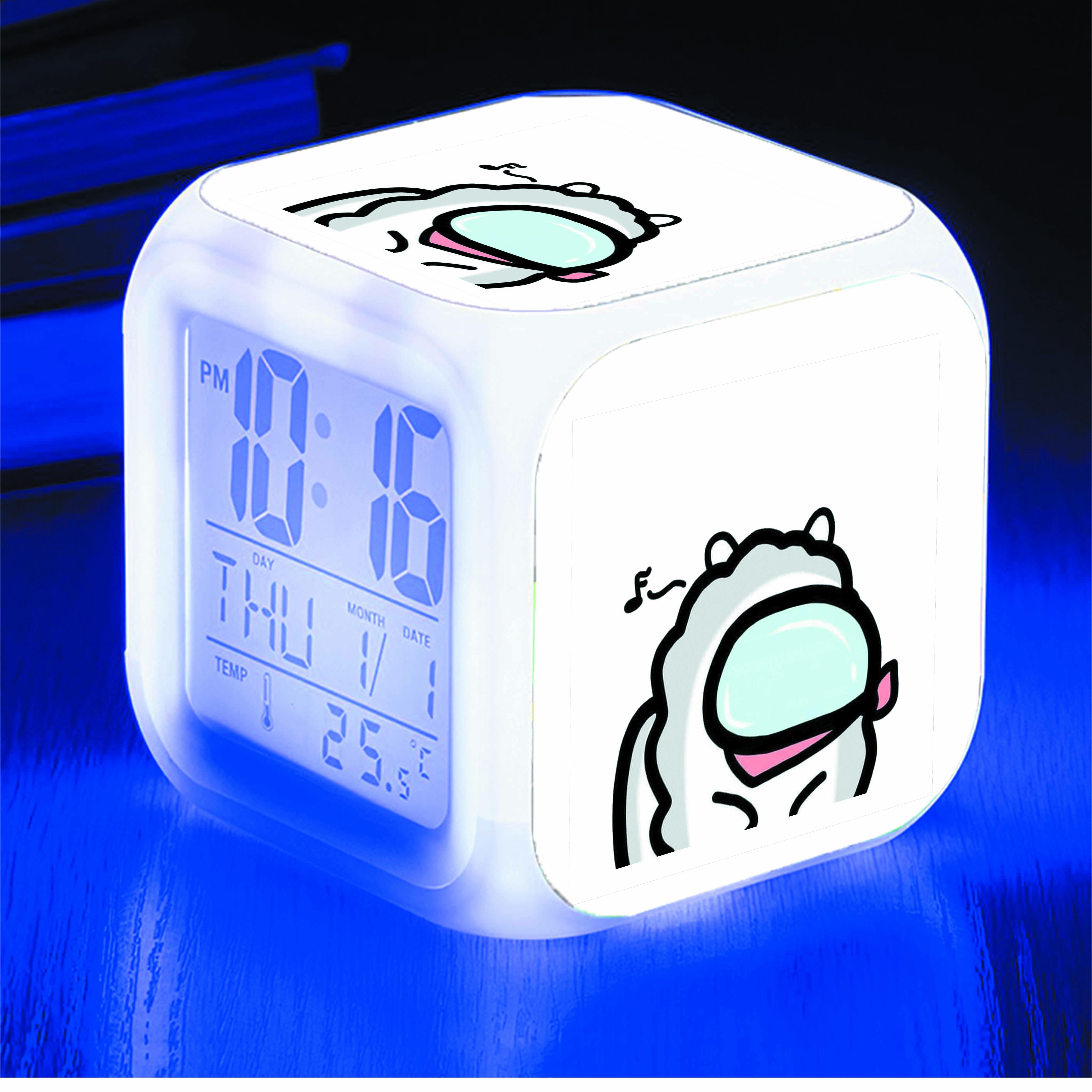 Đồng hồ báo thức để bàn IN HÌNH Among Us BTS chibi