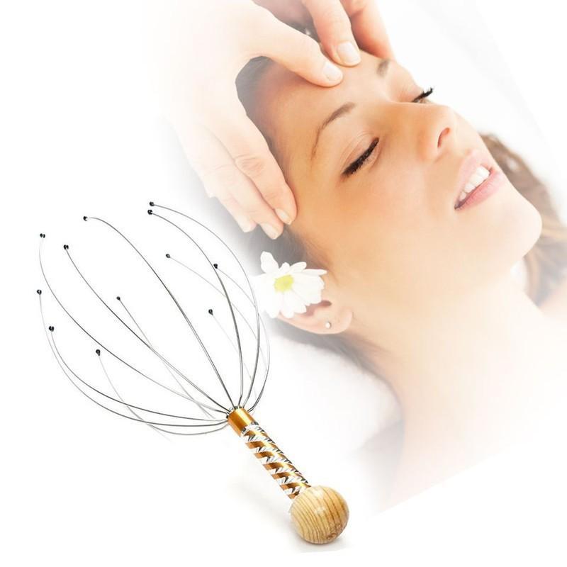 Combo Cây massage Đầu thư giãn +Cọ Rửa Mặt Bạch Tuộc (Giao màu ngẫu nhiên)