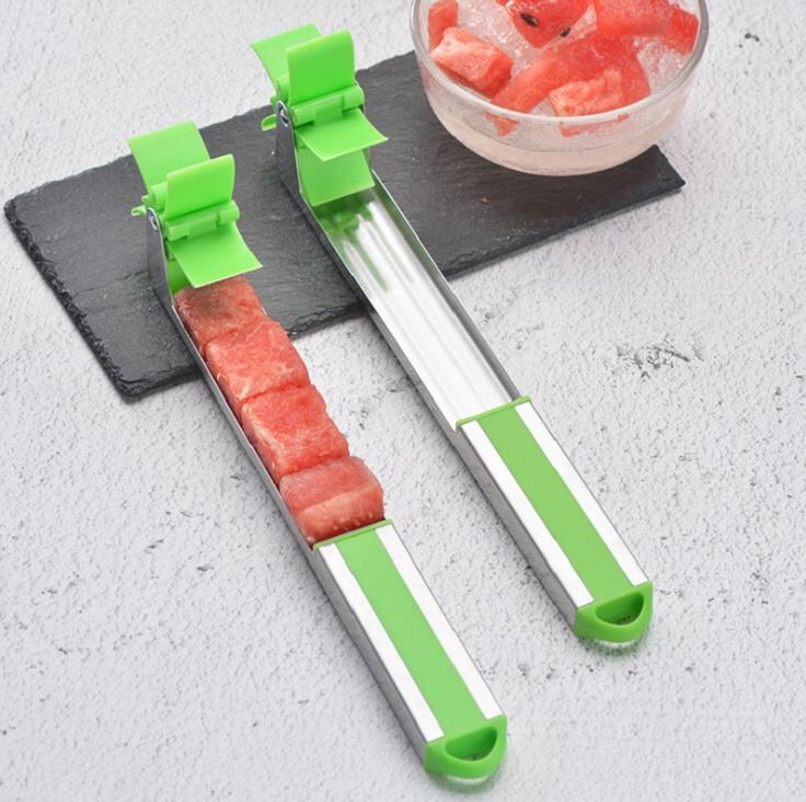 Dụng cụ cắt dưa hấu thành từng miếng siêu nhanh, tiện lợi bằng inox - 25.5 x 9.5 cm