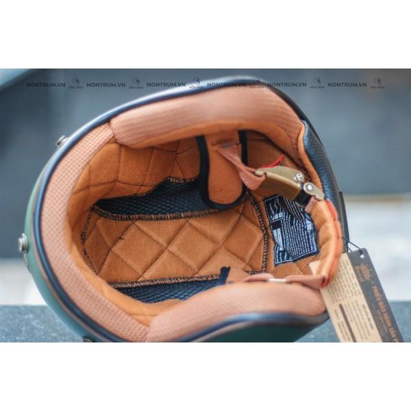 Nón bảo hiểm 3/4 ROYAL M20C xanh mực nhám
