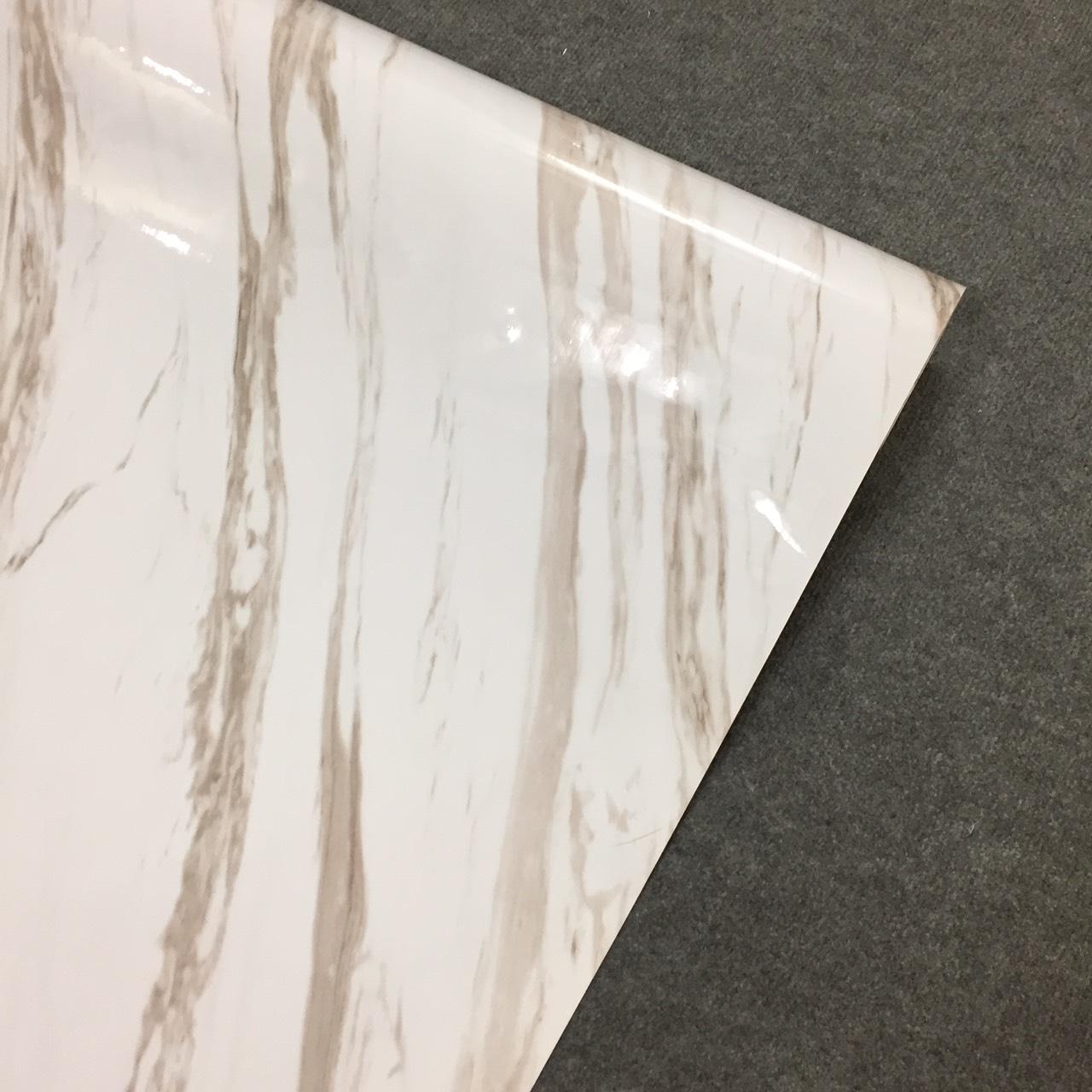 Decal vân đá hoa cương trắng vân to - Giấy dán tường bàn tủ bếp có sẵn keo ( khổ 1,2m - Mẫu D2 )