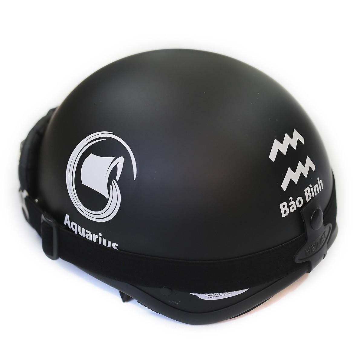 Mũ bảo hiểm đẹp 1/2 đầu cung hoàng đạo bảo bình + kính phi công màu ngẫu nhiên