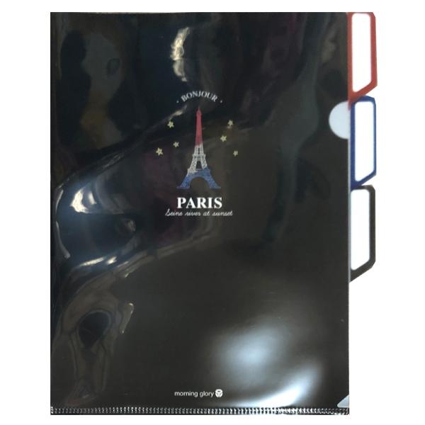 Bìa Hồ Sơ 3 Ngăn (Eiffel Tower 4) - Morning Glory -77630 - Đen