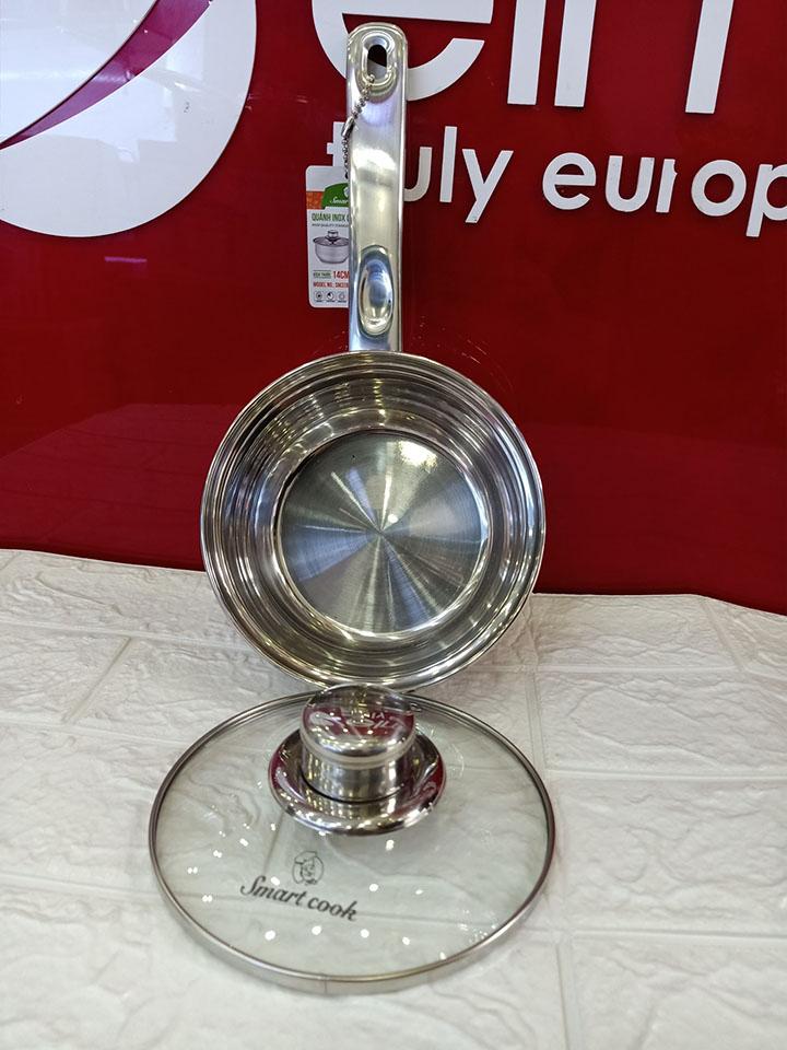 Quánh Inox đường kính 14cm Elmich Smartcook SM3283 vung kính - Hàng chính hãng, bảo hành 12 tháng