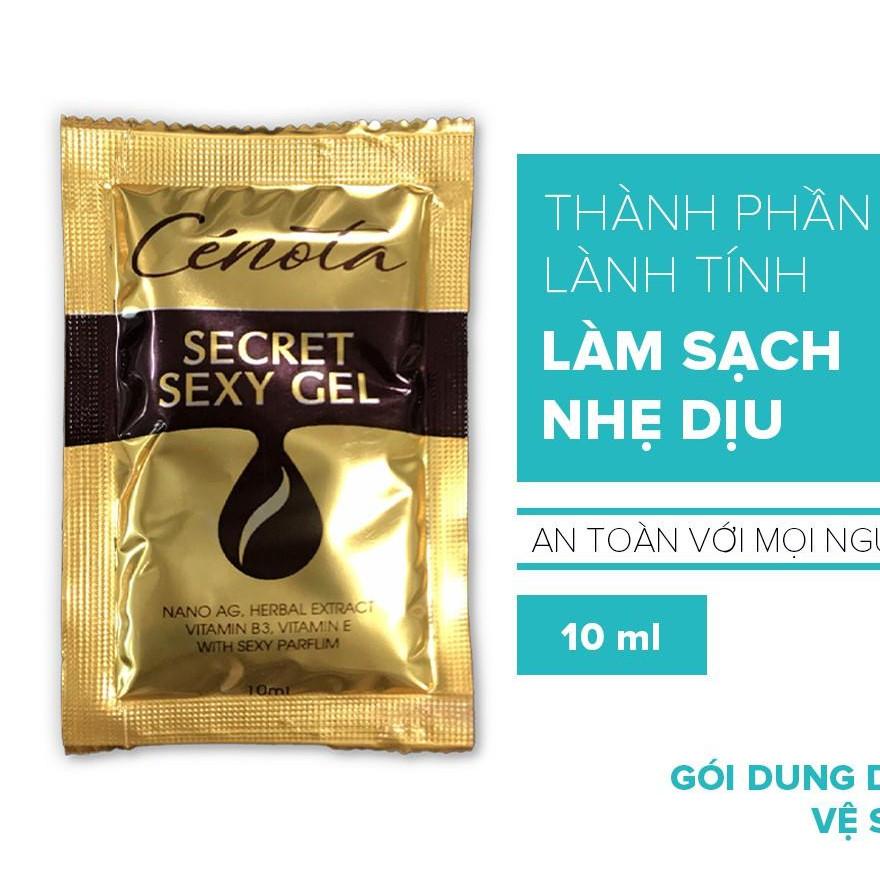 Gói dung dịch vệ sinh phụ nữ Cenota Secret Sexy Gel 10ml