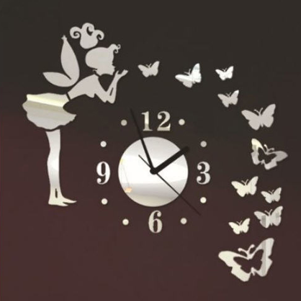 Đồng hồ 3d treo tường thiên thần