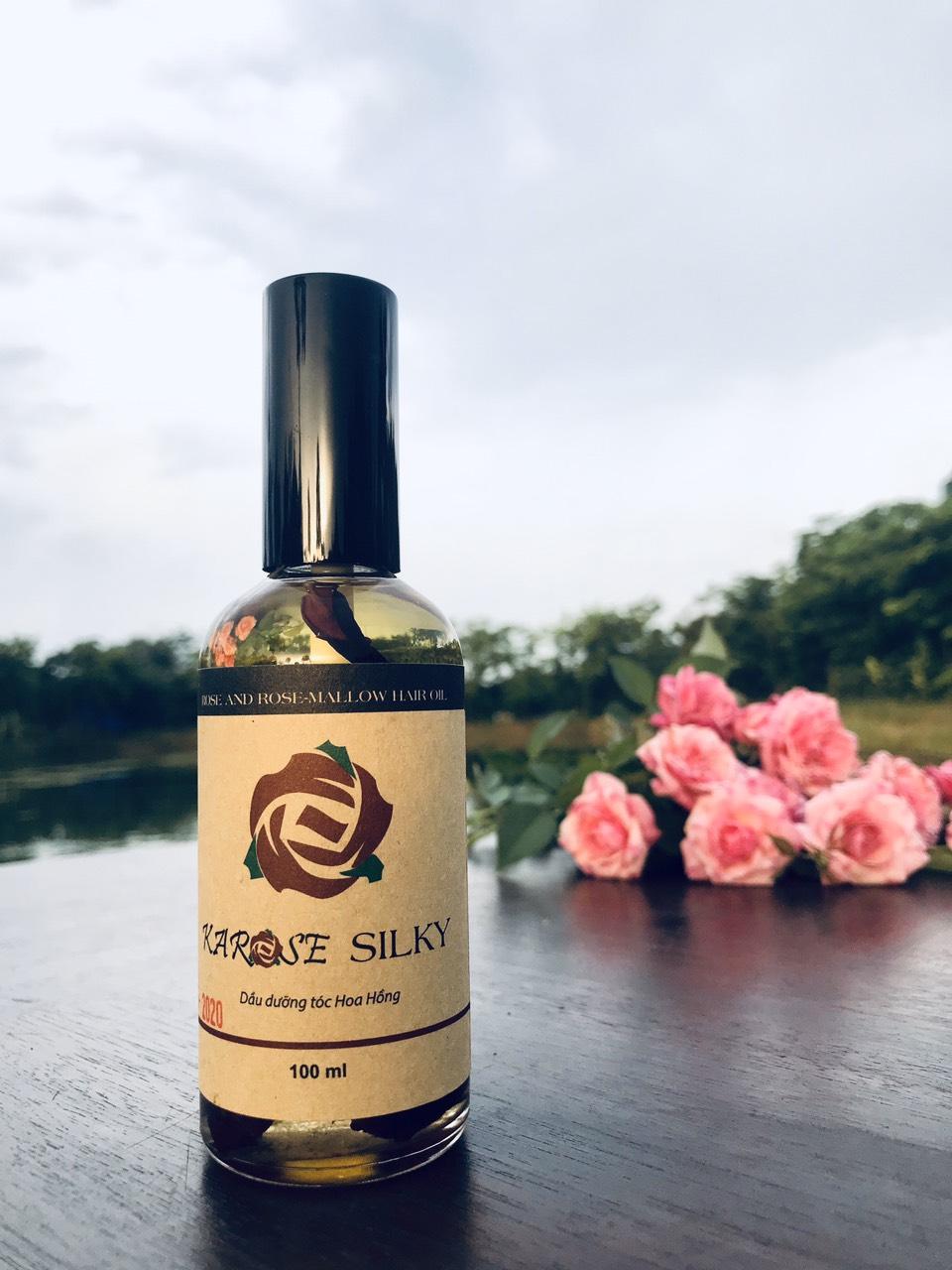 Dầu Dưỡng Ủ Tóc Hoa Hồng Karose Silky (100 ml)