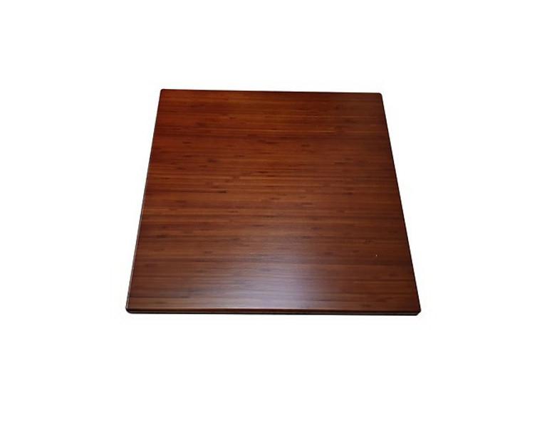 Bàn cafe chân gang đúc mặt bàn tre ép TH60x60N - Màu nâu cánh dán sang trọng