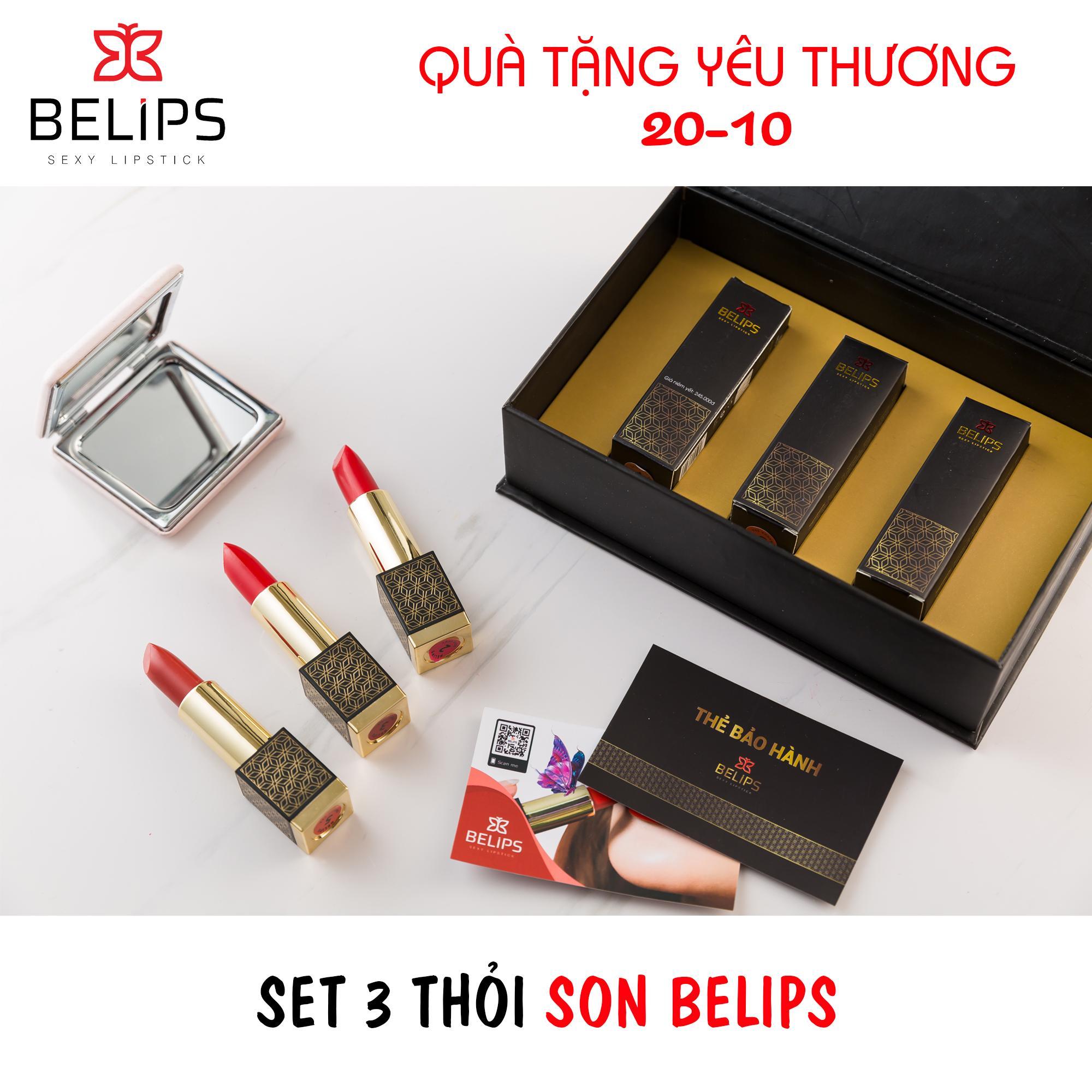 Hình ảnh Set son Belips 3 thỏi - Bộ quà tặng yêu thương - Son môi 100% thành phần tự nhiên, không chứa chì, bà bầu cũng dùng được