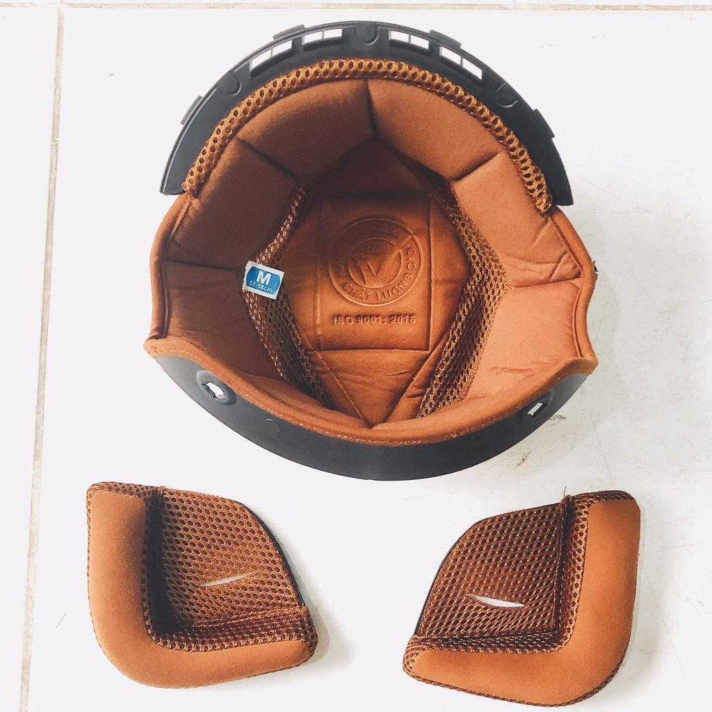 Lót nón bảo hiểm 3/4 Royal M139 gồm 1 lót và 2 ốp tai phiên bản mới