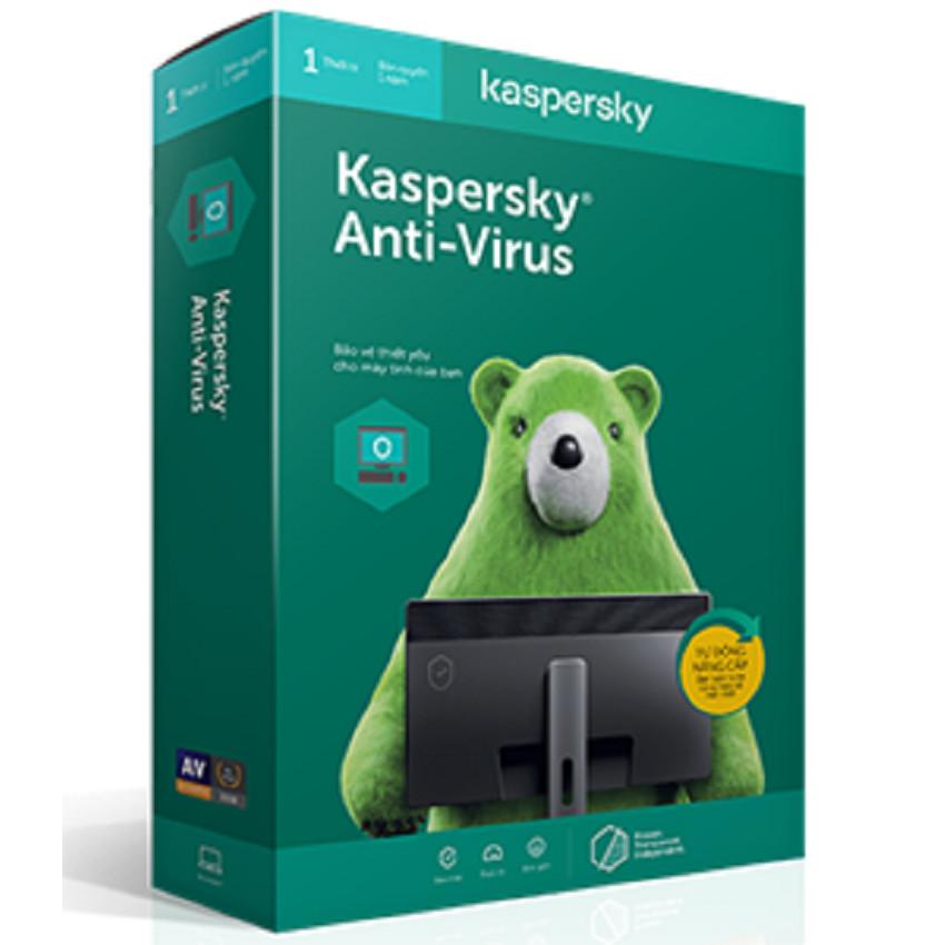 Phần mềm diệt Virus KASPERSKY ANTIVIRUS cho 1PC/1Năm - PP Chính hãng