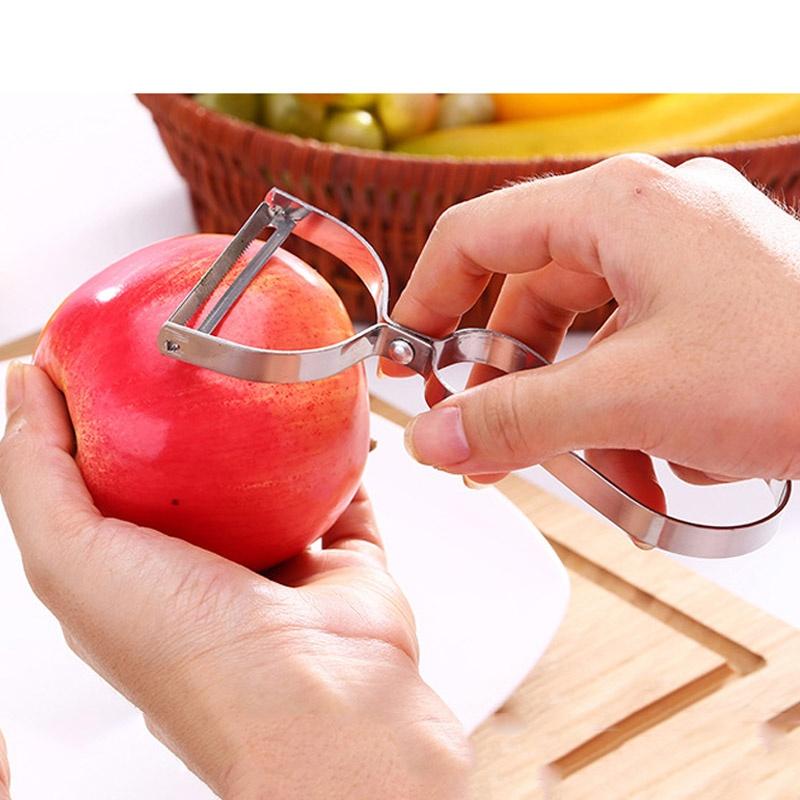 Nạo củ quả inox lưỡi xoay tay cầm chữ Y (mẫu mới) - Hàng nội địa Nhật