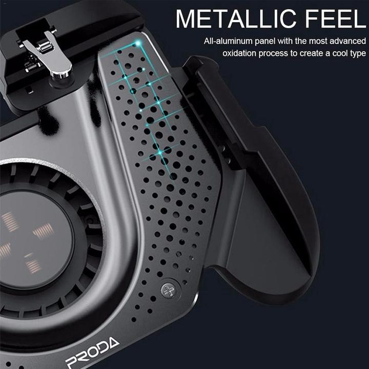 Tay cầm chơi game tích hợp quạt tản nhiệt Remax Proda Kroos PD-D03 - Hàng nhập khẩu