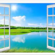 Tranh dán tường cửa sổ 3D T3DMN 028