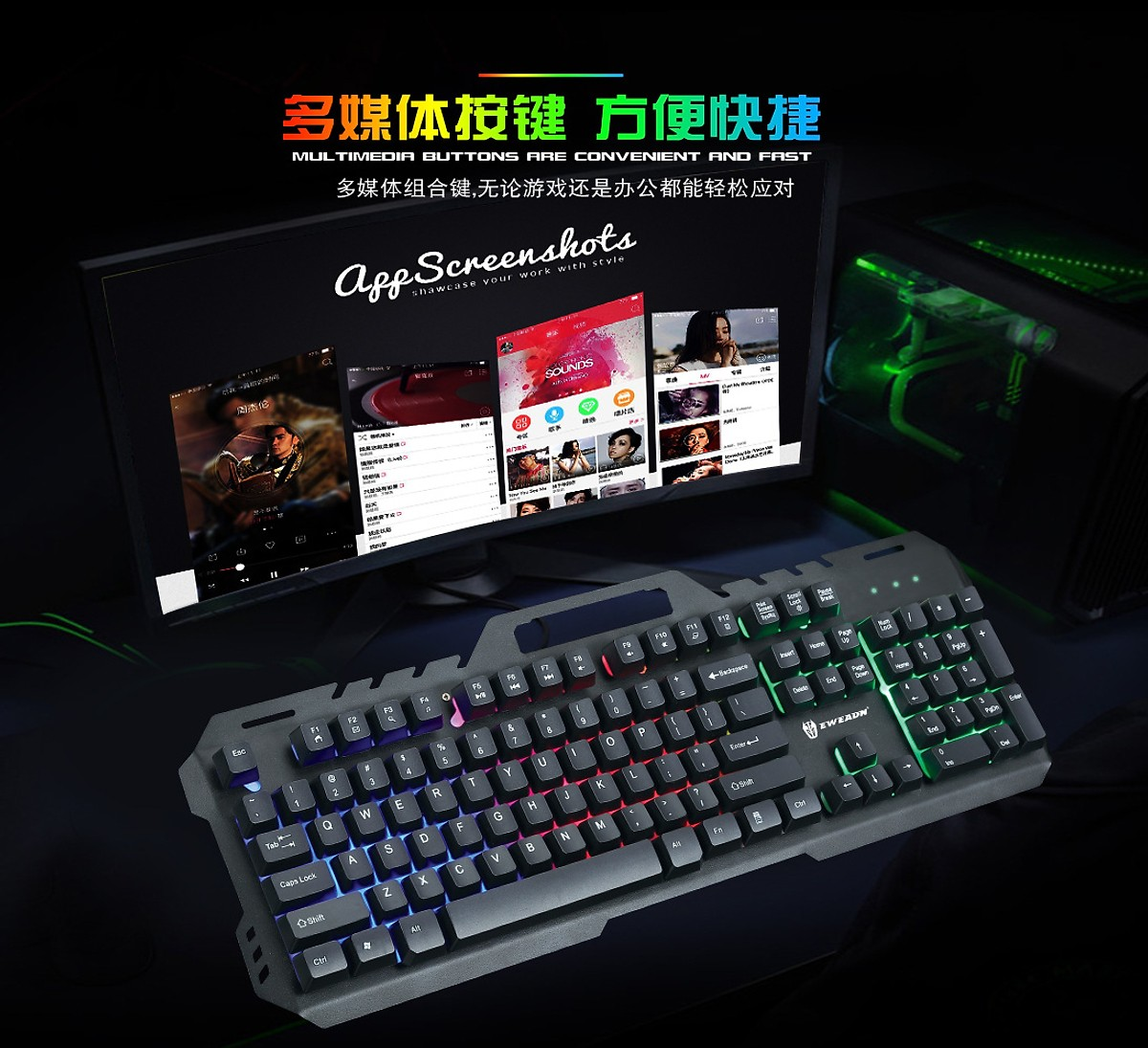 Combo Bàn phím Gaming GT5 Viền Kim Loại + Tặng Tai Nghe Chụp Tai Kèm Mic Dành Cho Game Thủ CT-770 (Màu Ngẫu Nhiên)