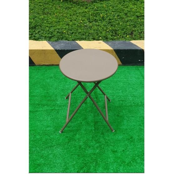 Bàn xếp Thanh Long loại tròn BTRON-01 màu nâu sử dụng sắt sơn tĩnh điện chống gỉ sét