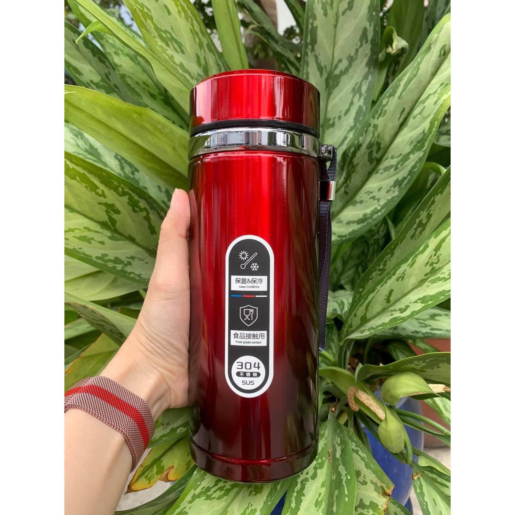 Bình giữ nhiệt có lõi lọc trà 1000ml ( inox 304 )