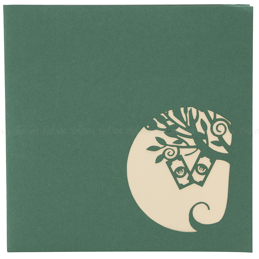 Thiệp Nổi 3D Ninrio - Money Tree BT128 (15 x 15 cm) - Màu Ngẫu Nhiên