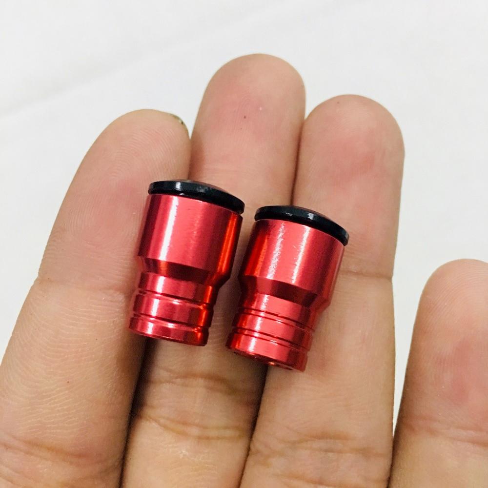 Bộ 02 Nắp Van Vòi Kiểu Thái Nhôm CNC Dành Cho Xe Máy + Tặng 01 Móc Treo Inox Gắng Baga Xe