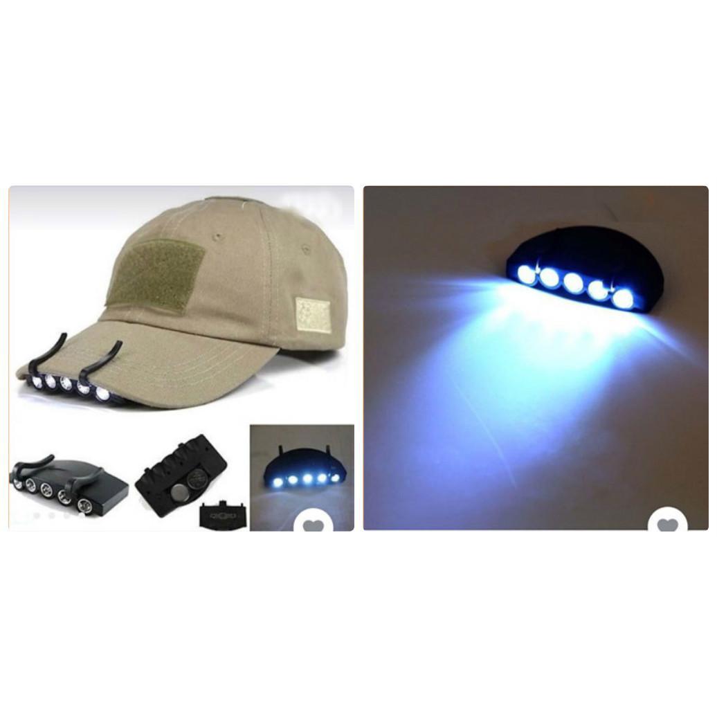 Đèn đội đầu gắn mũ nón , cài áo dùng pin