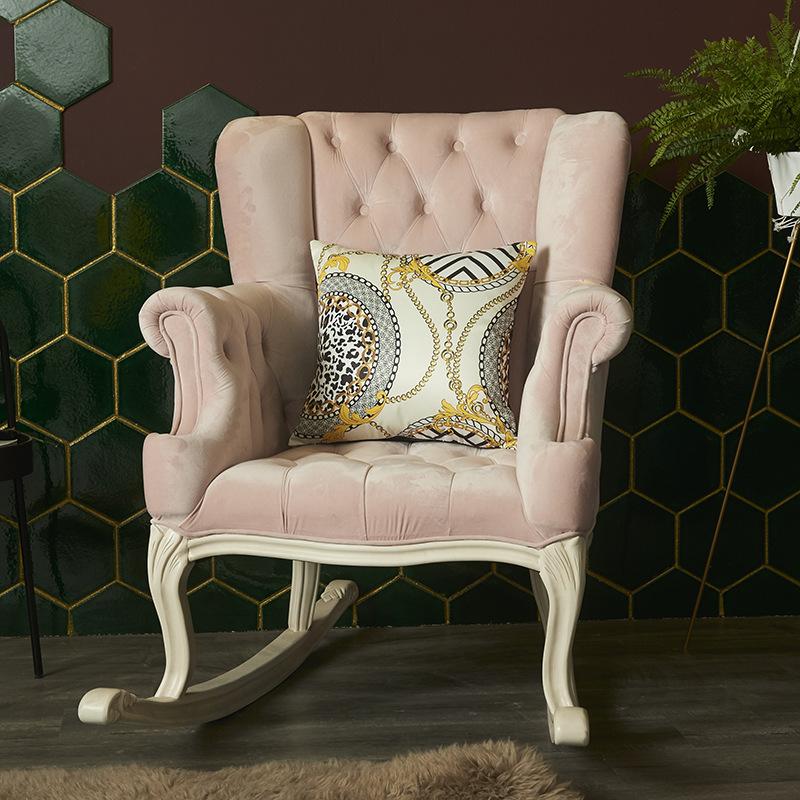 Vỏ Gối Tựa Lưng Sofa Hoa Lụa Sọc Vàng Sang Trọng Chất Êm Ái